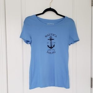 🎈 NAUTICA sailing blue tee shirt